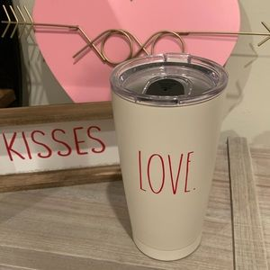 "NWT Rae Dunn ""Love"" Insulated Travel Mug"